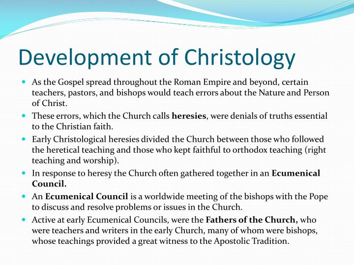 Development of Christology