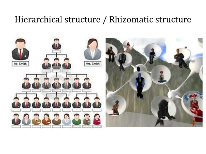 Hierarchical structure / Rhizomatic
