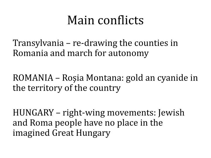 Main conflicts