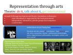 representation through arts