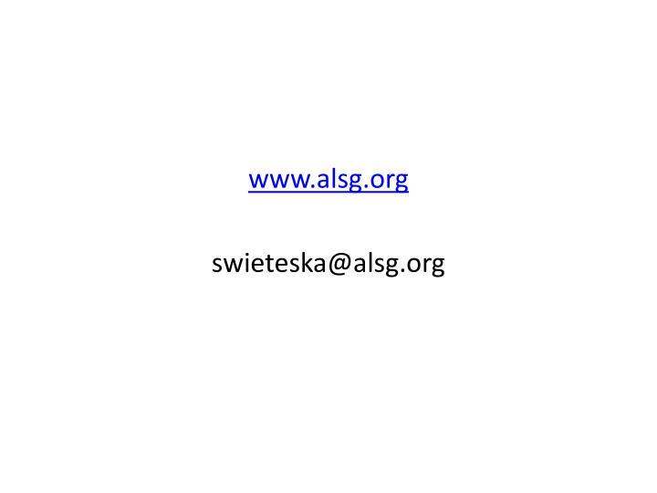 www.alsg.org