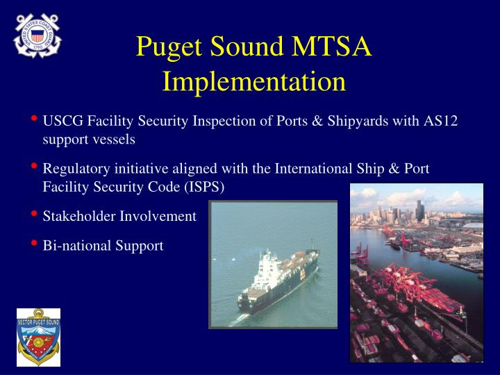 Puget Sound MTSA Implementation