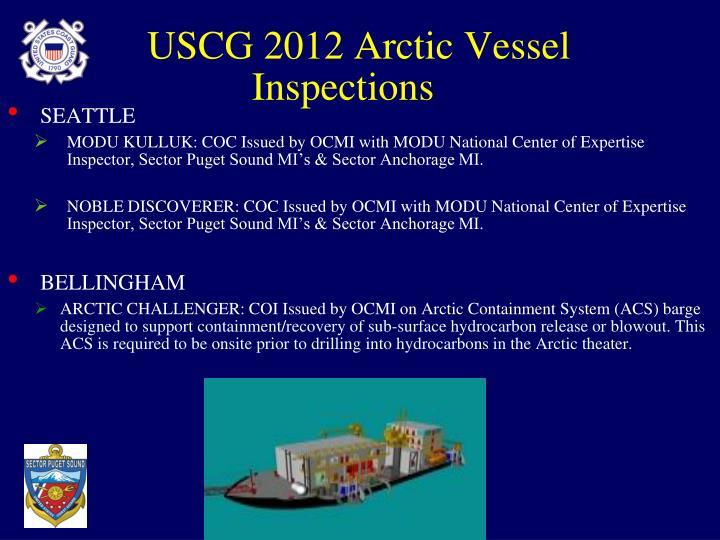 USCG 2012 Arctic Vessel Inspections
