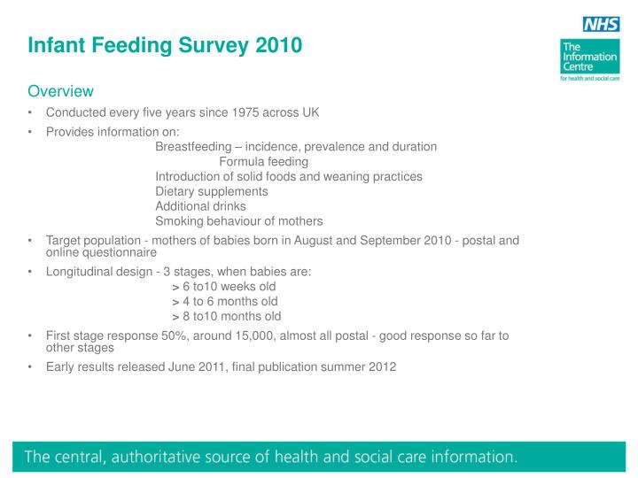 Infant Feeding Survey 2010