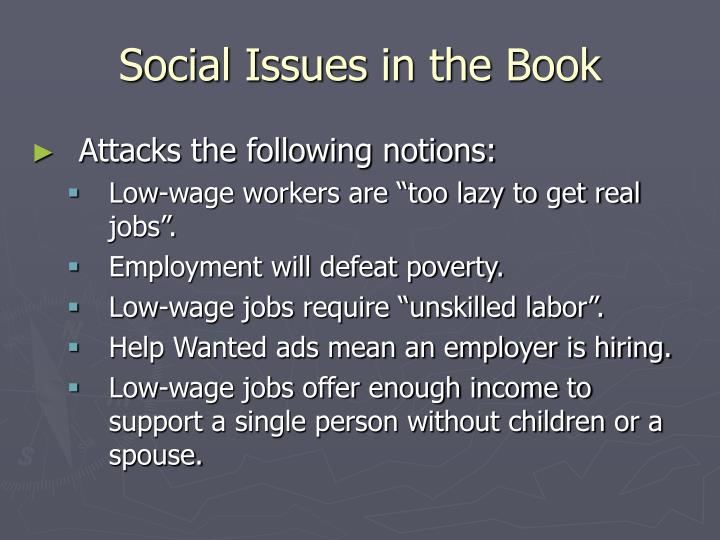 Social Issues in the Book