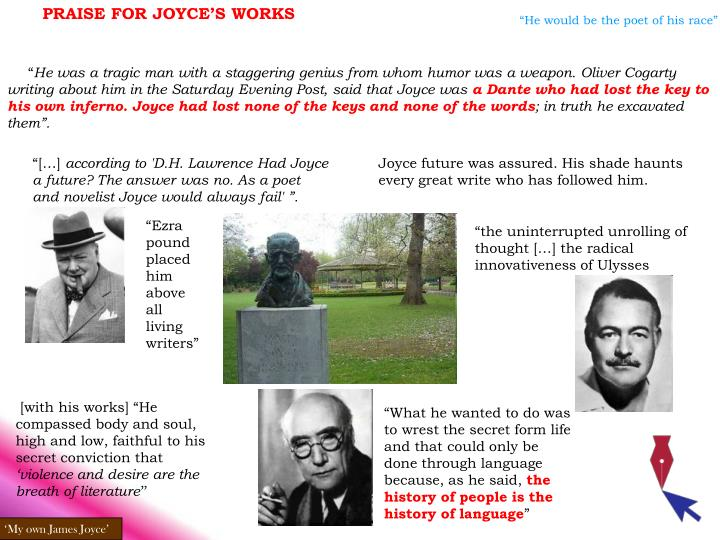 PRAISE FOR JOYCE'S WORKS