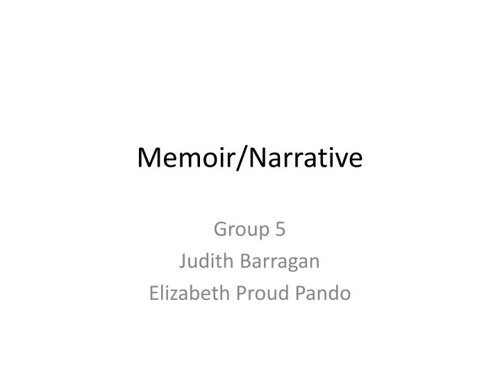 Memoir narrative