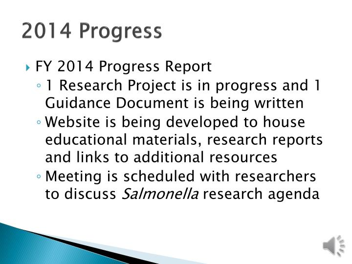 2014 Progress