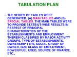 tabulation plan