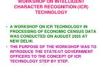 workshop on intelligent character recognition icr technology