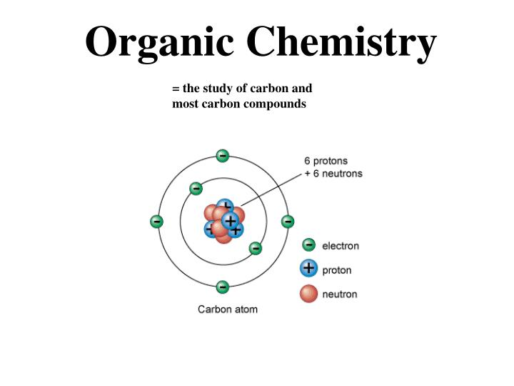 = the study of carbon and             most carbon compounds