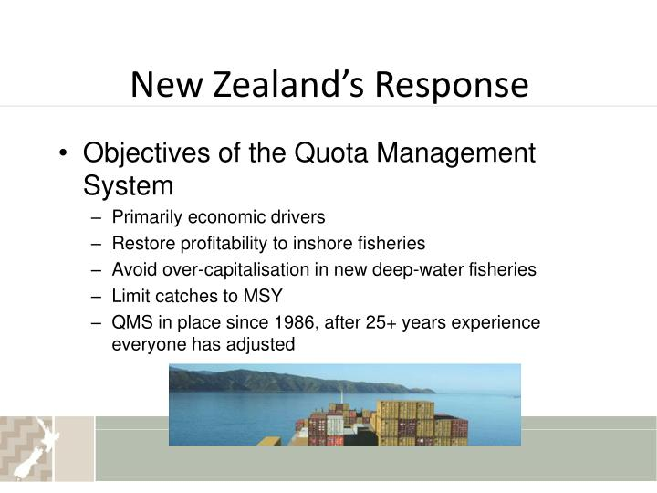 New Zealand's Response