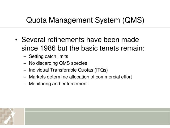 Quota Management System (QMS)