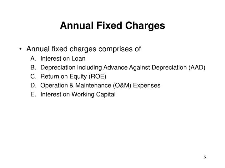 Annual Fixed Charges