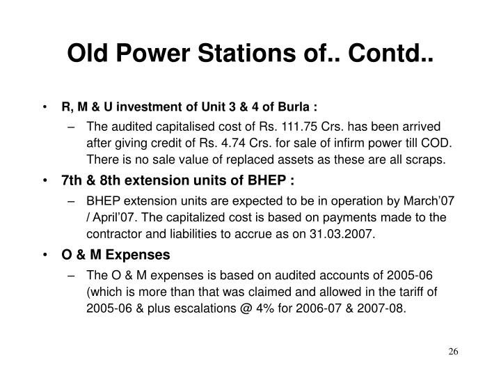 Old Power Stations of.. Contd..
