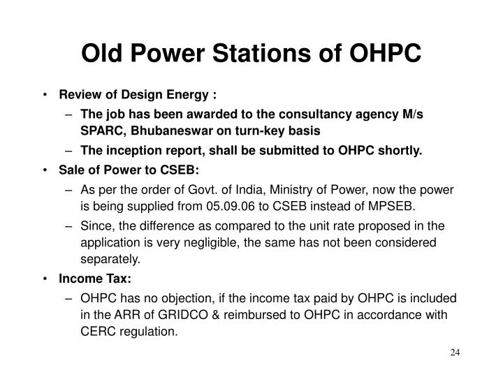 Old Power Stations of OHPC