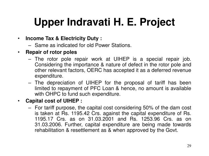 Upper Indravati H. E. Project