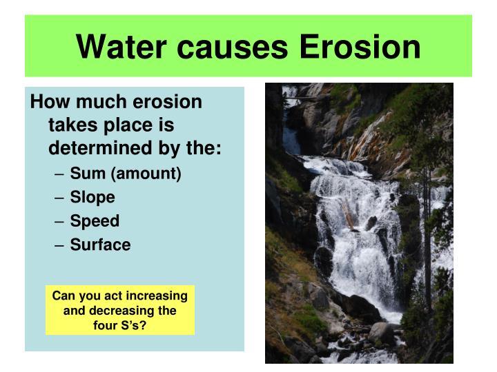 Water causes Erosion