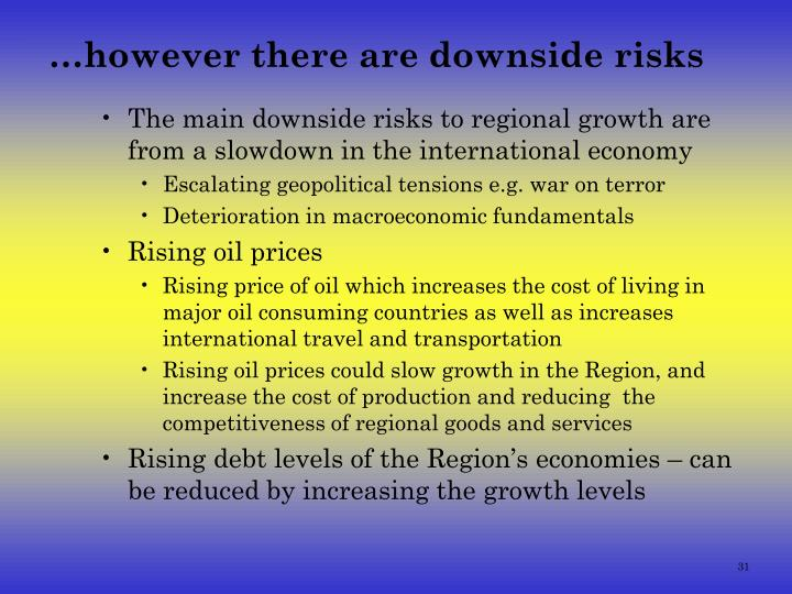 …however there are downside risks