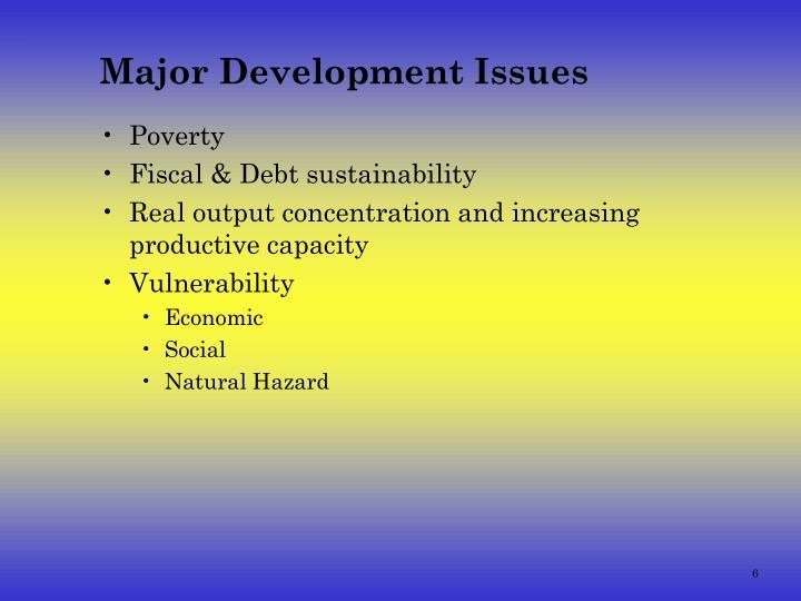 Major Development Issues