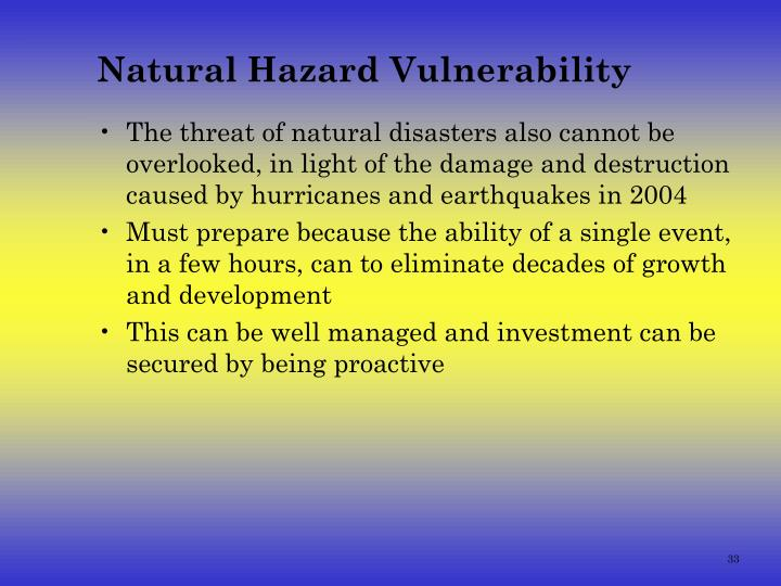 Natural Hazard Vulnerability