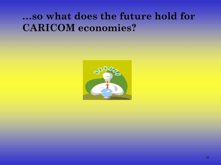 …so what does the future hold for  CARICOM economies?