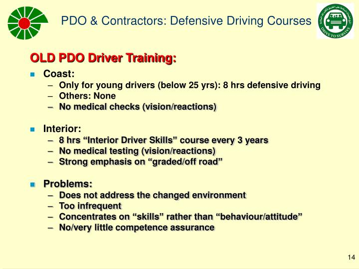 OLD PDO Driver Training: