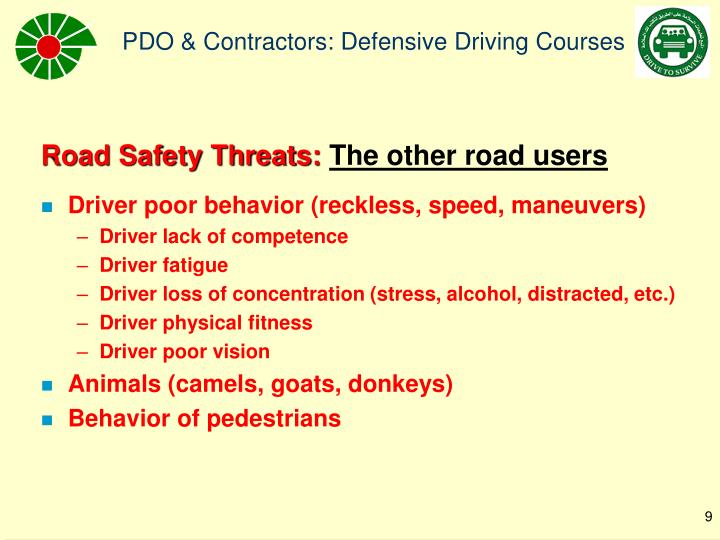 Road Safety Threats:
