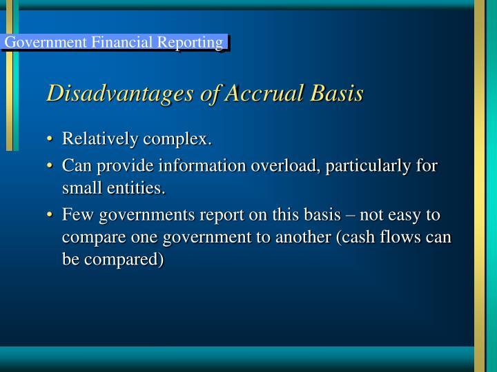 Disadvantages of Accrual Basis