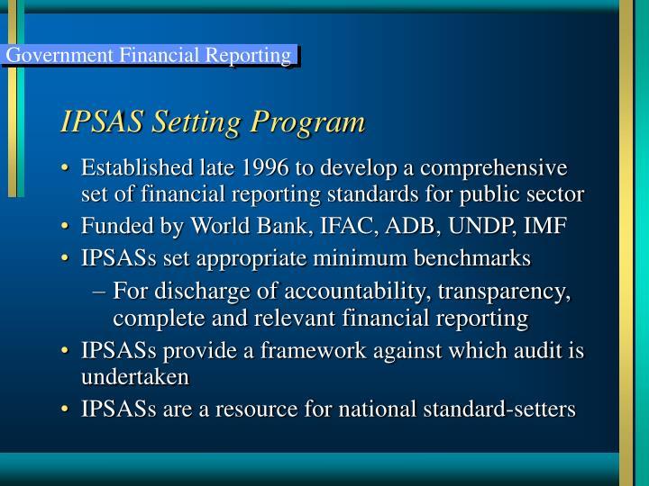 IPSAS Setting Program