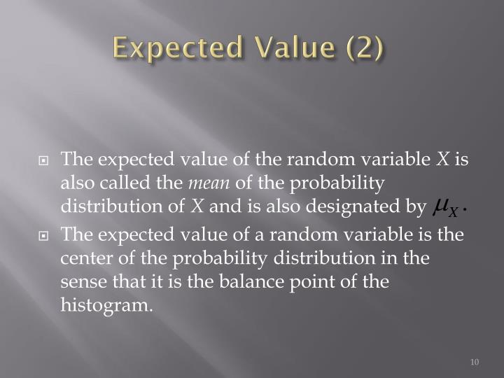 Expected Value (2)