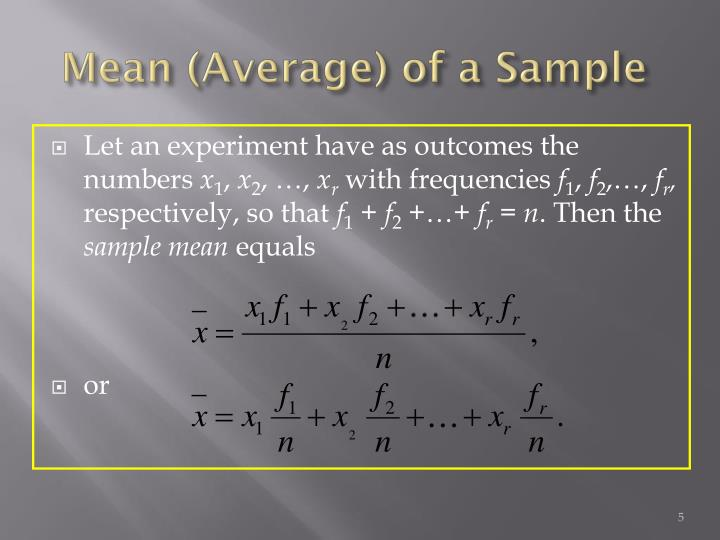 Mean (Average) of a Sample