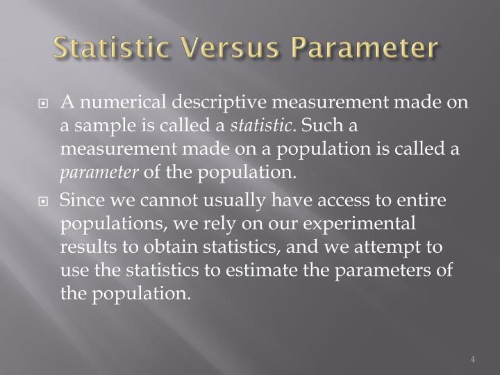 Statistic Versus Parameter