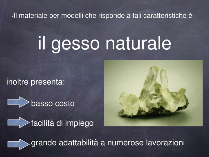 il gesso naturale