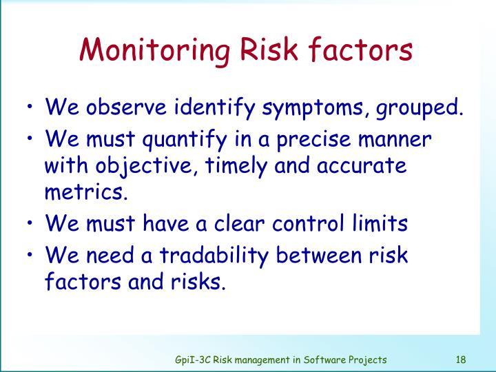 Monitoring Risk factors