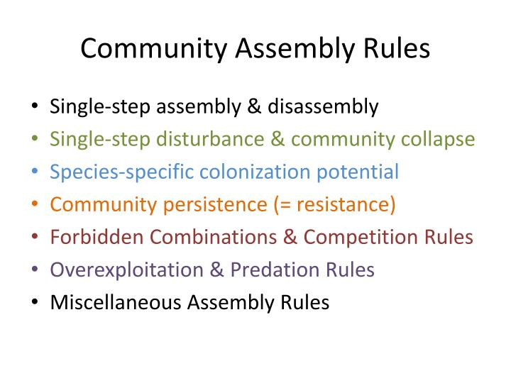 Community Assembly Rules