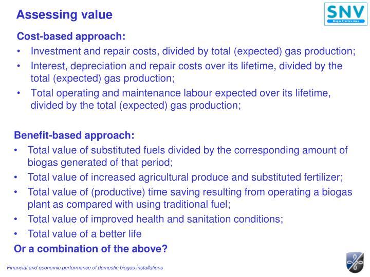Assessing value