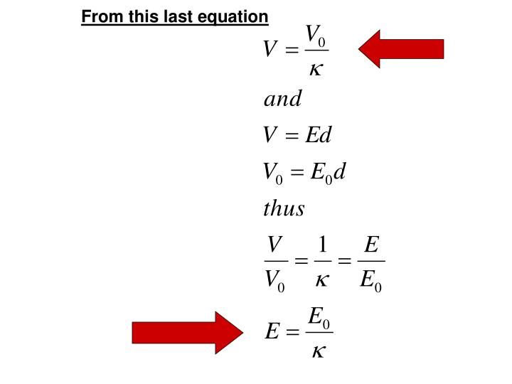From this last equation