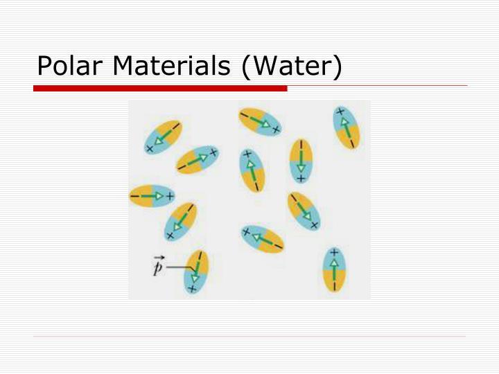 Polar Materials (Water)