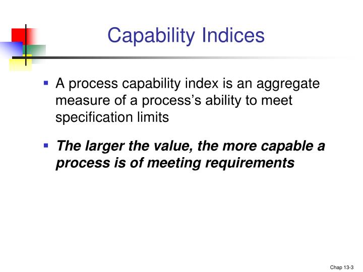 Capability indices