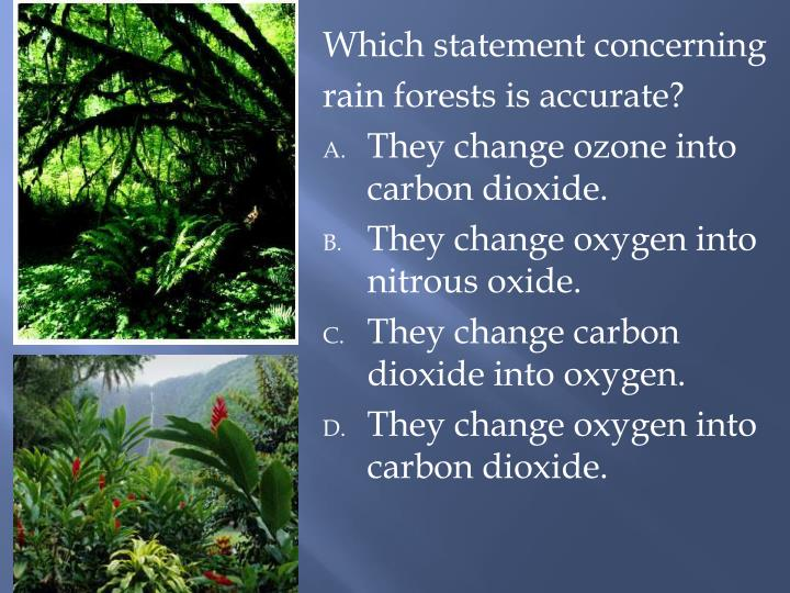 Which statement concerning