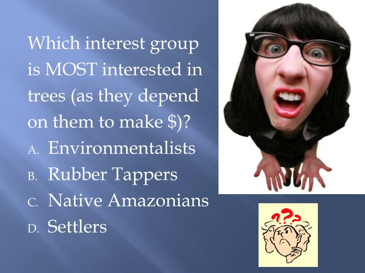 Which interest group