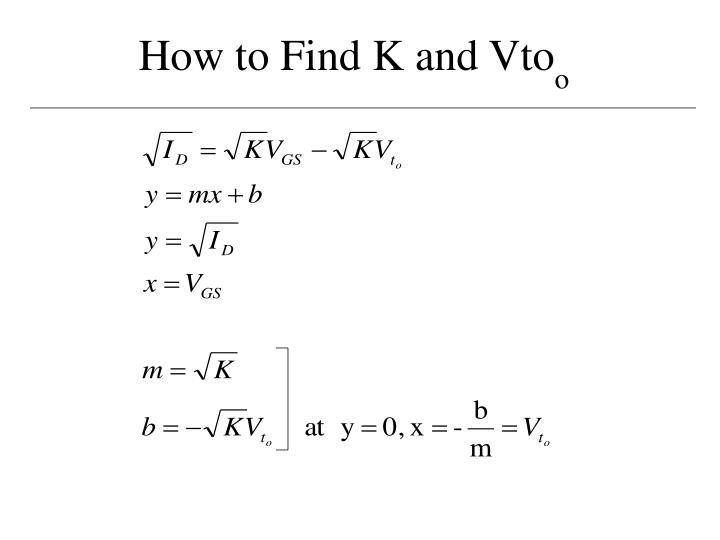 How to Find K and Vto