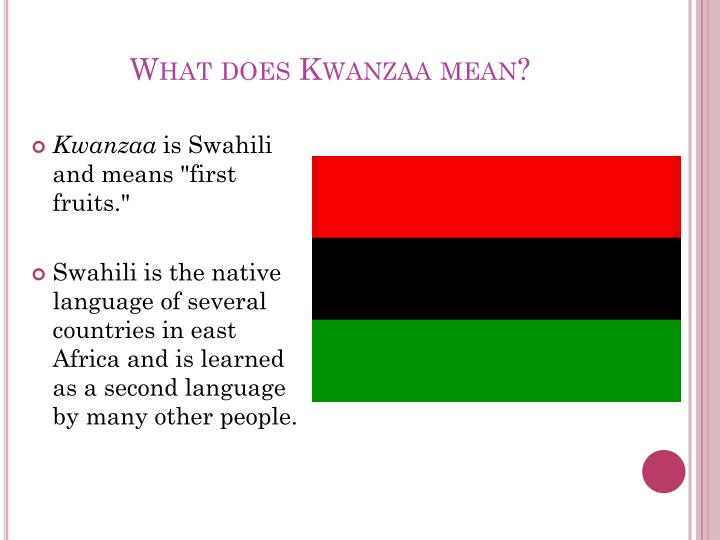 What does Kwanzaa mean?
