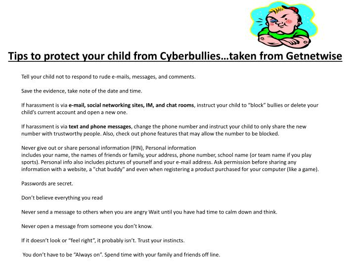 Tips to protect your child from