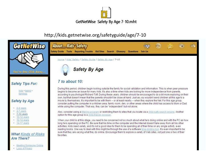 http://kids.getnetwise.org/safetyguide/age/7-10