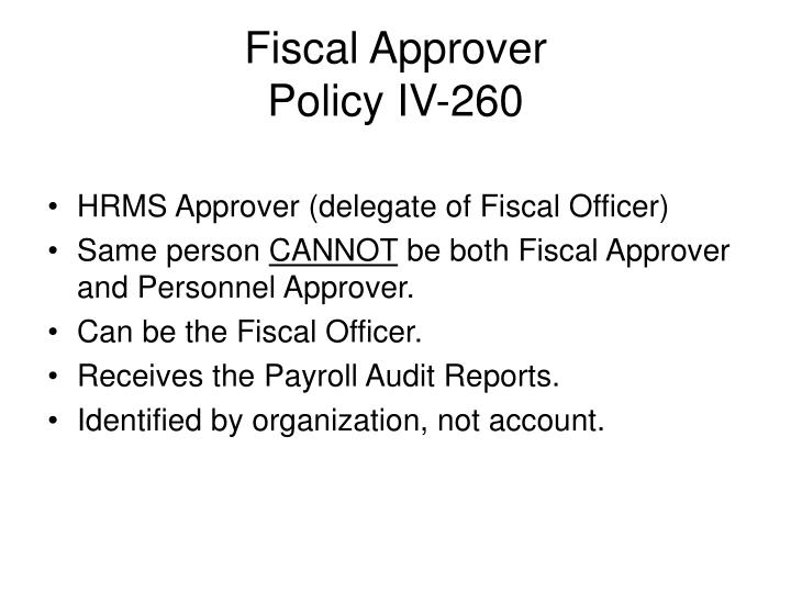 Fiscal Approver