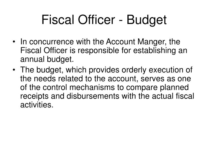 Fiscal Officer - Budget