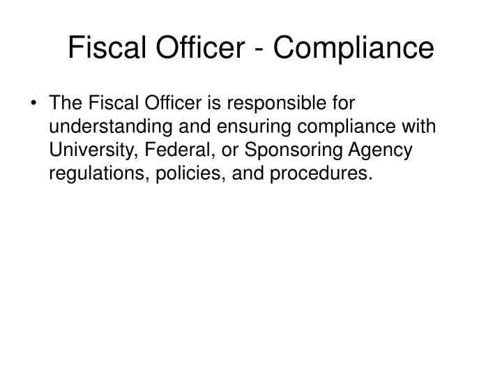 Fiscal Officer - Compliance