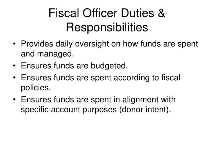 Fiscal Officer Duties & Responsibilities